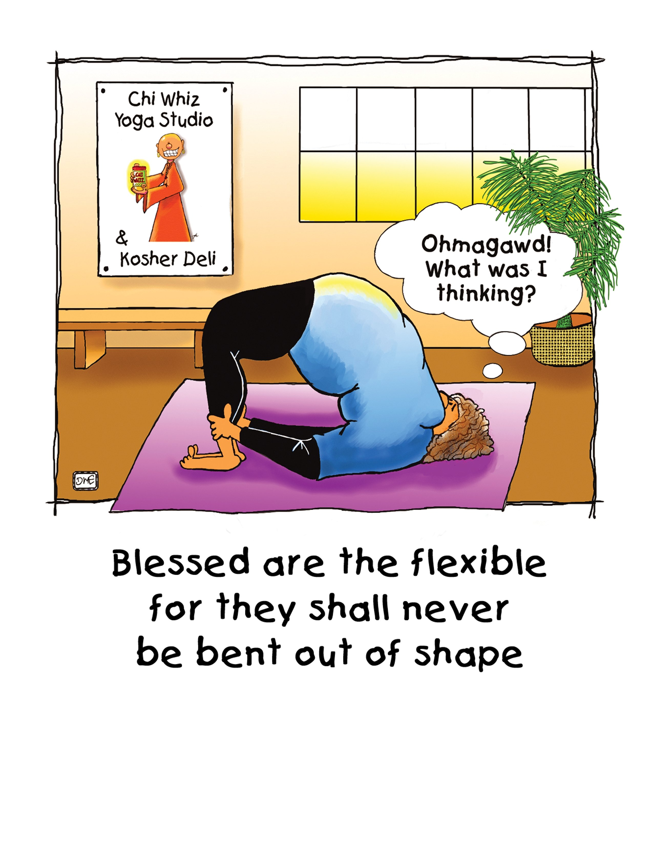Blessed Are The Flexible The Great Cosmic Happy Ass Card Co